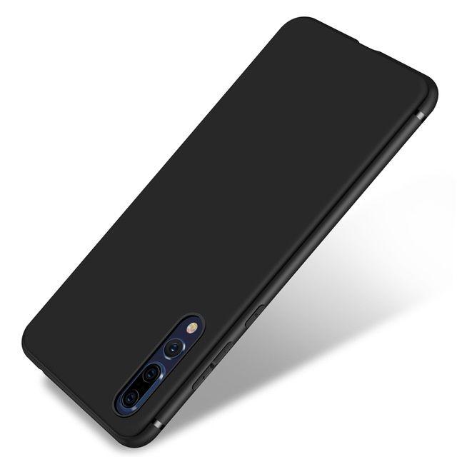 Huawei P20, P20 Lite, P20 Pro - Husa Ultra Slim Din Silicon Neagra