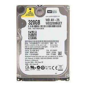 Hard Disk Laptop Nou -Western Digital 320GB,Model WD3200BUCT , 5400Rpm