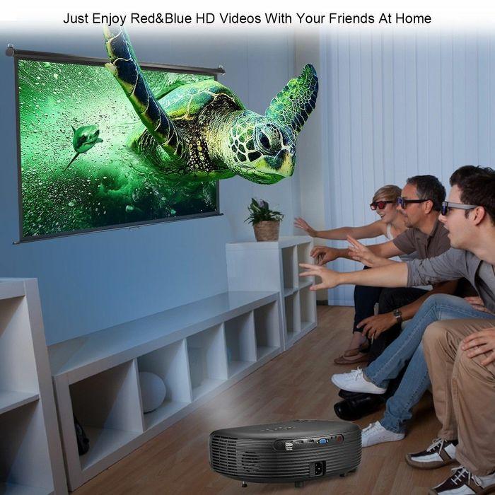 Tela+Projectora HD LED de 145 Polegada