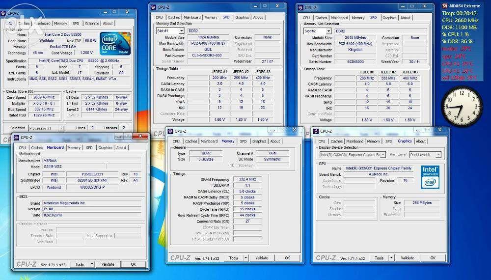 kit 775 - Asrock G31 + E8200 + 2GB DDR2 + Creative SB0570
