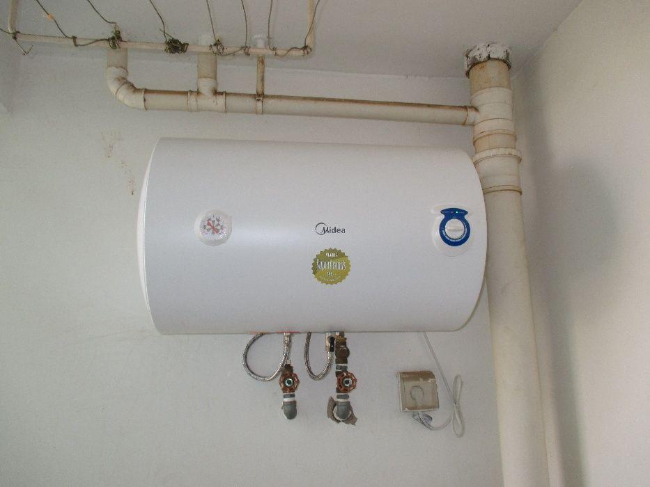 Instalação de termoacumulador aquecedor de água