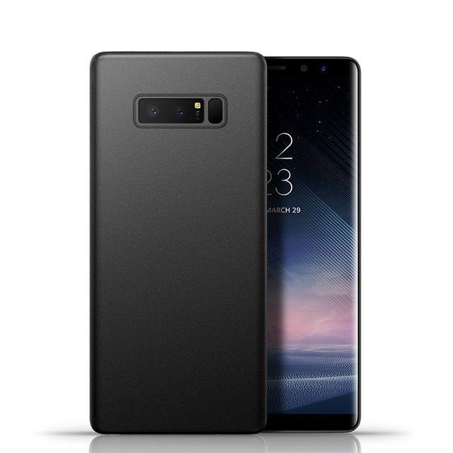 Husa Slim Silicon Moale Neagra Mata - Samsung Note 8 9 S8 S8+ S9 S9+
