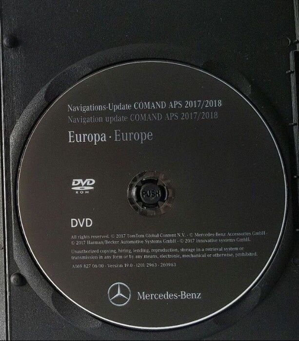 Harta Mercedes NTG2 A/B/C/CLK DVD Navigatie Europa + ROMANIA 2018 V19