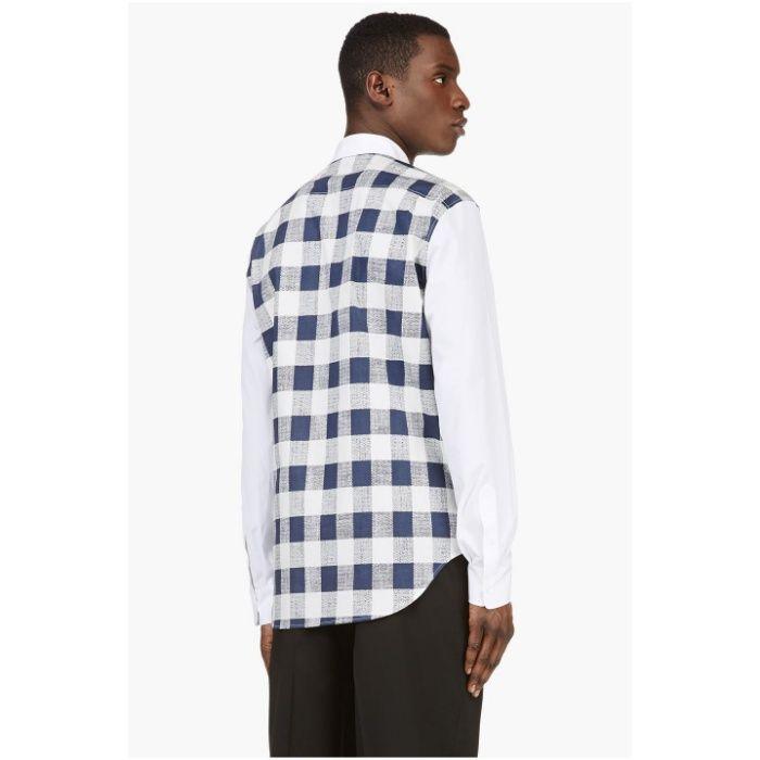 3.1 PHILLIP LIM White Plaid Panel Мъжка Риза size M