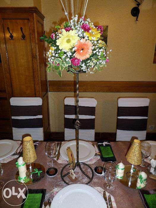 Suporti fier forjat pt flori/aranjamente nunta/botez