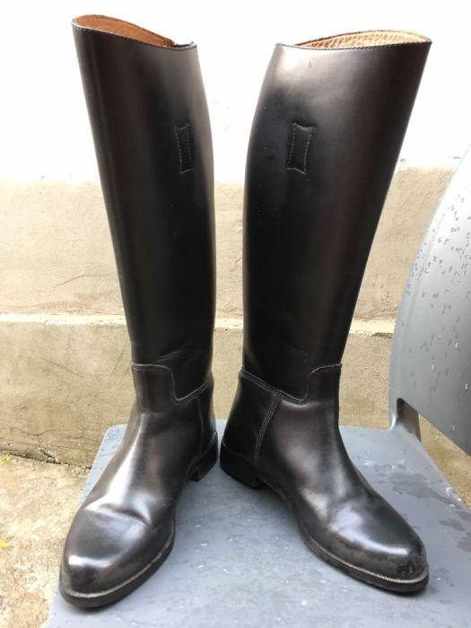Cizme de călărie, din piele negre, mărime 38 (5 UK).