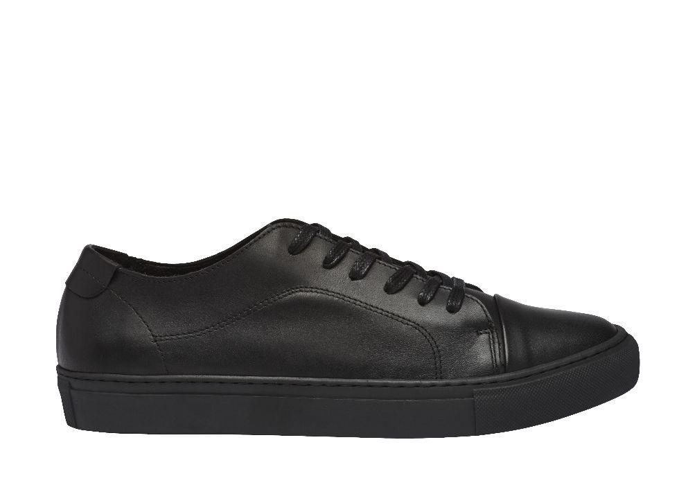 Ocazie!!! GARMENT PROJECT black sneakers 100% piele