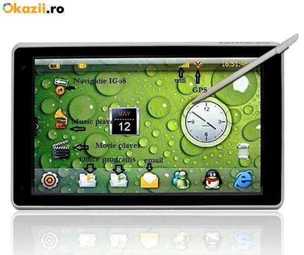 """Navigatie GPS 7"""" iGo8 si TabletPC"""