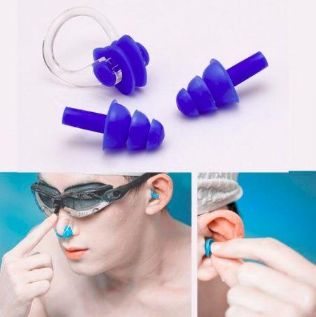 Набор для (очки) плавания заглушки для ушей беруши и зажим для носа