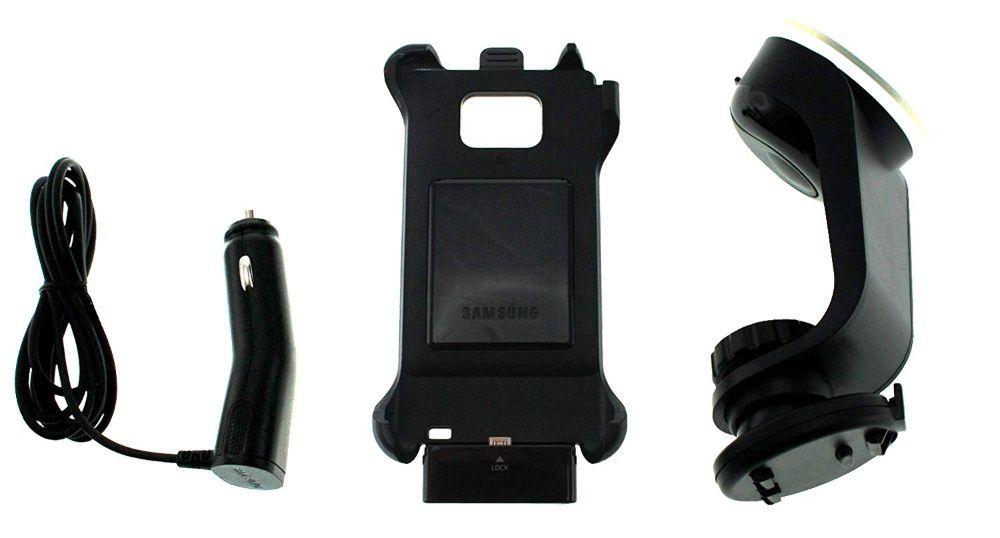 Оригинална стойка + зарядно за кола за Samsung Galaxy S2!