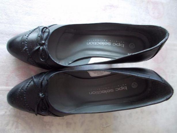 Ieftin,pantofi noi dama firma,bonprix-bpc,piele naturala neagra,rambur