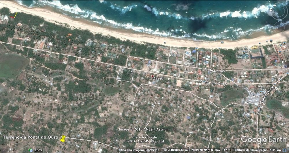 To sale Plot of land in Ponta de Ouro, full sea vew 90.000,00 USD