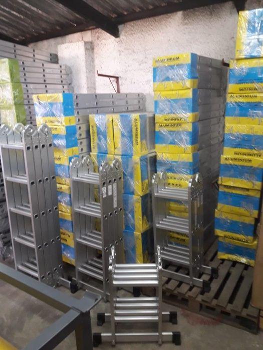 Escadotes articulados em alumínio de qualidade modelo KMP402