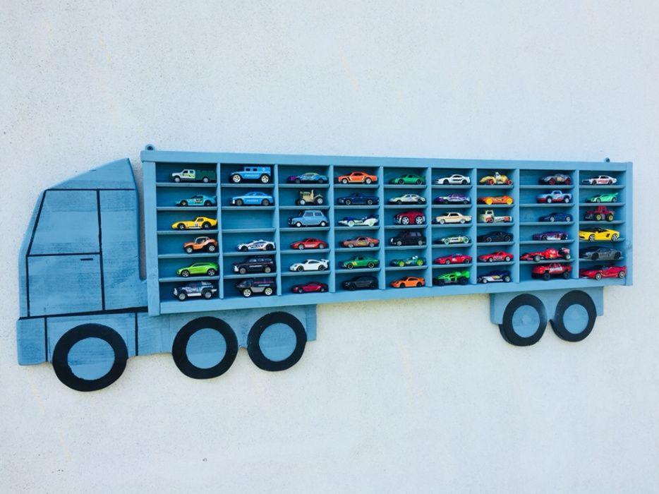 Raft-camion din lemn pentru masinute Craiova - imagine 1