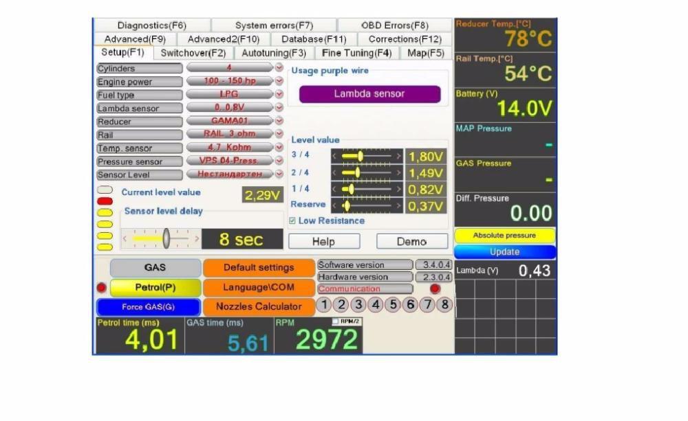 Instalatii GPL Auto - Fratelli Autogaz software gpl fratelli