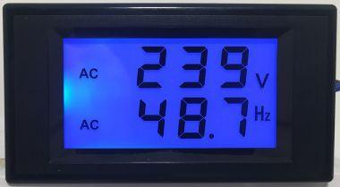 Voltmetru/Frecventmetru Afisaj, LCD, C.Alternativ, 80-300V
