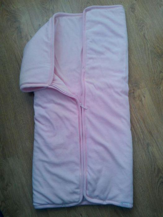 Plapuma bebe(sac dormit),ca noua, folosita la botez+ cadou lot rochite