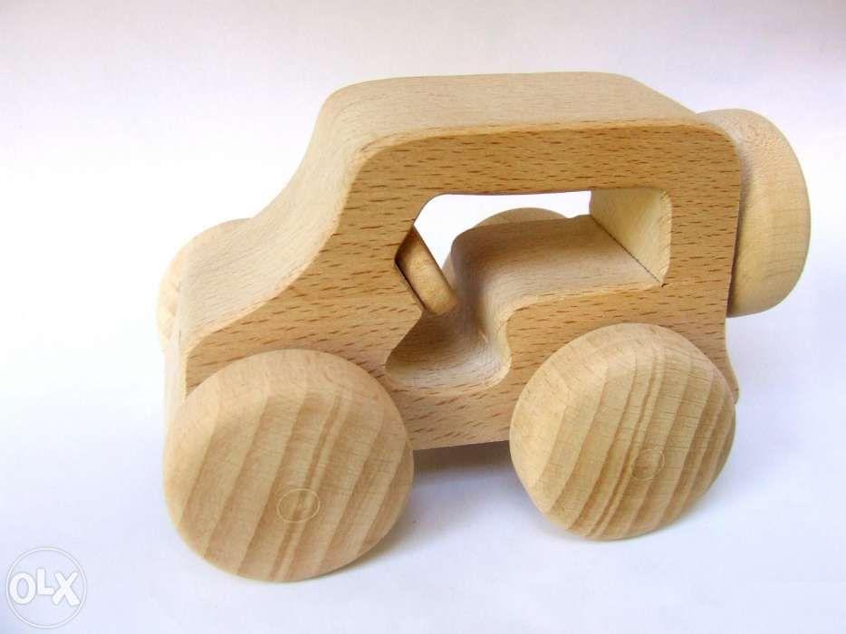 Jucarie lemn masinuta natur