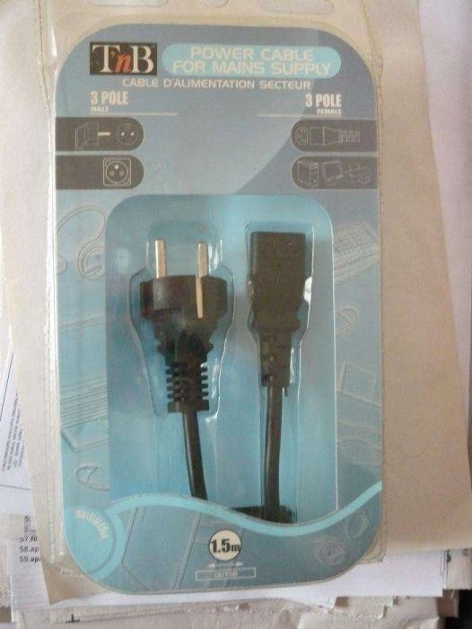 Cablu, cabluri alimentare universal pt PC, monitor, imprimantă NOU