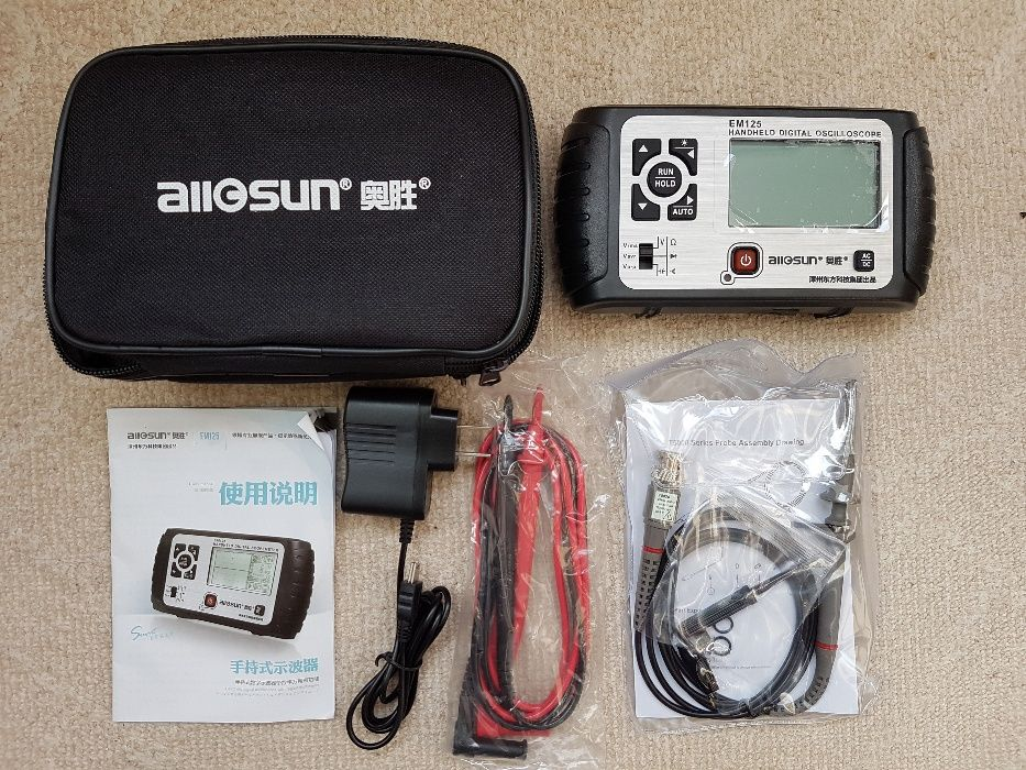 Osciloscop portabil All-sun EM125 25MHz 100MSa/s 2in1 + Multimetru