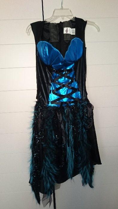 Rochita pentru Halloween, noua, albastra, pentru dame, masura M.