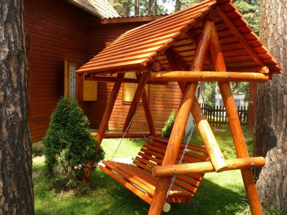 Leagan rustic grădina / balansoar rustic grădina