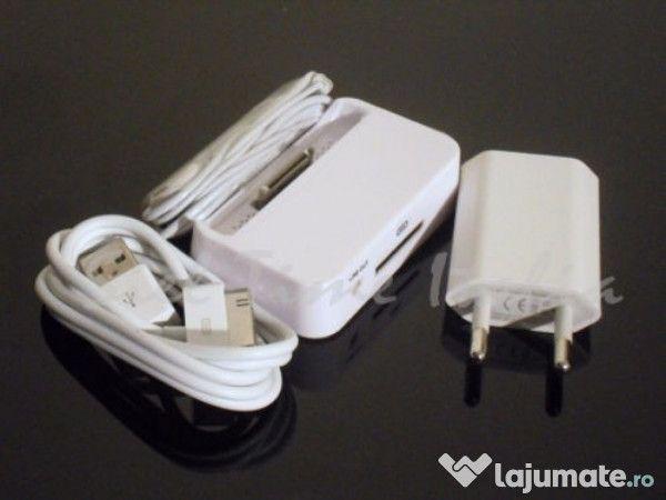 Incarcator Cablu Casti - Iphone 4 4s 5 5s 6 6s 6 plus 7 7 Plus