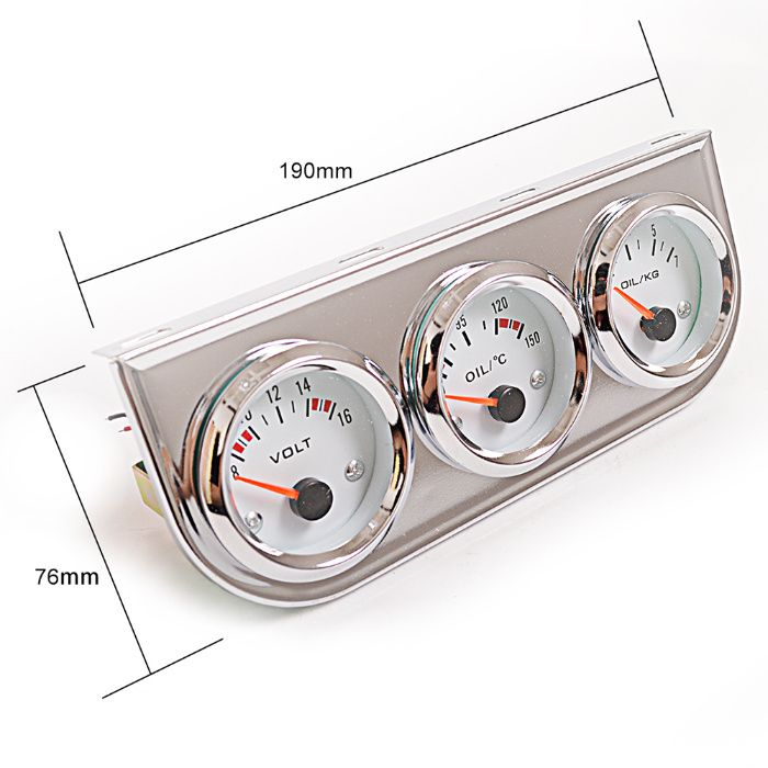 9b2bc2b901d Измервателни уреди 3броя тип VDO температура масло налягане масло вода гр.  Стара Загора - image