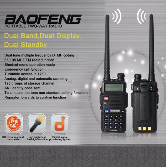 Statii portabile emisie receptie / walkie talkie Baofeng UV-5R, NOI