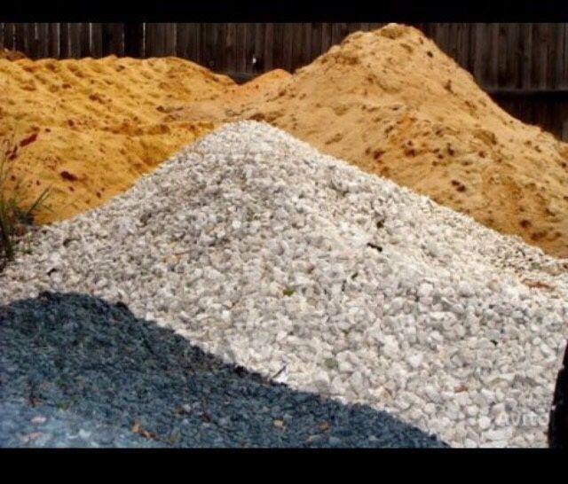 Щебень,чернозём, дресва песок с доставкой