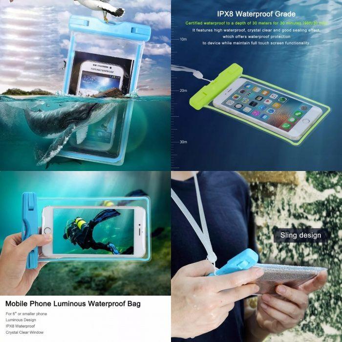 Capas prova de Água para smartphones