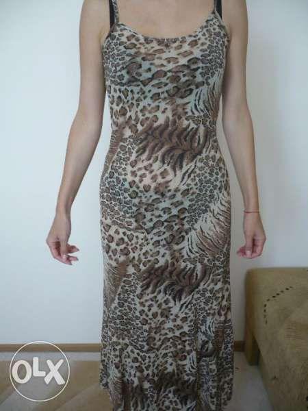 Дамска дълга рокля с тигрови мотиви