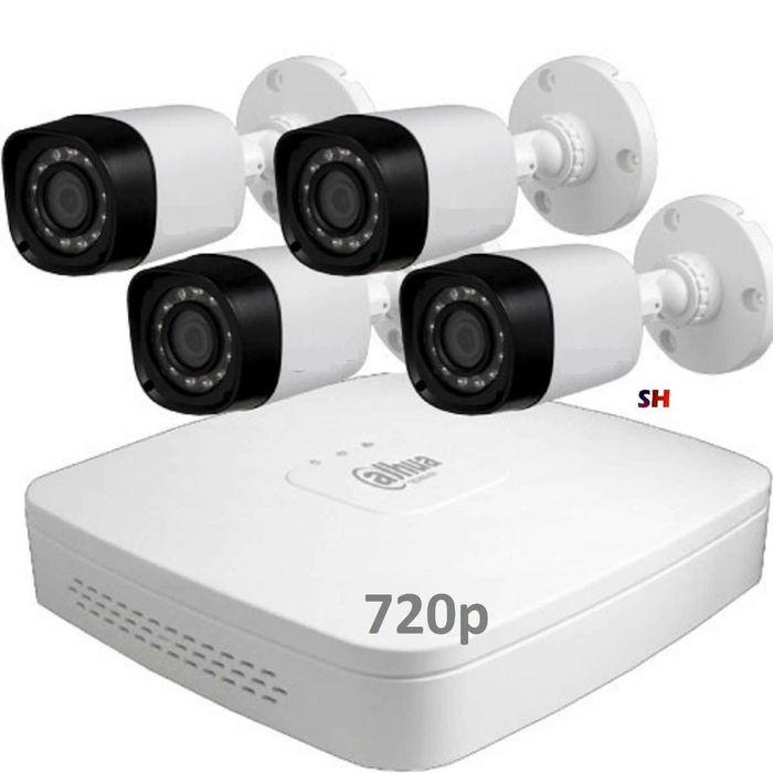 CCTV kit de 4 Câmeras com montagem prontos a funcionar