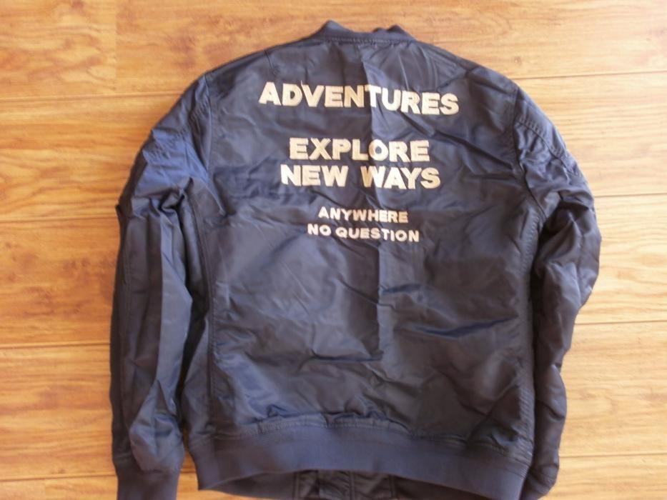 L Zara Men Bomber Jacket With back slogan