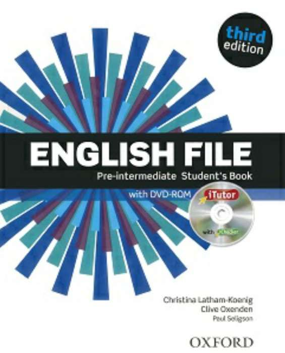 English file pre-intemediate student's & work book third edition
