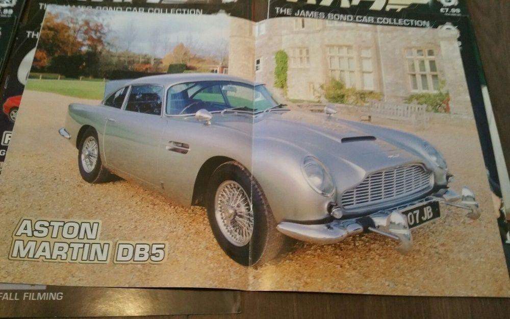 Reviste James Bond 007 din colectia de machete auto, doar revistele!