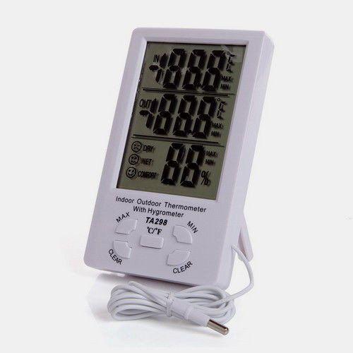Электронный влагомер, термометр, гигрометр, часы MAX-MIN TA298
