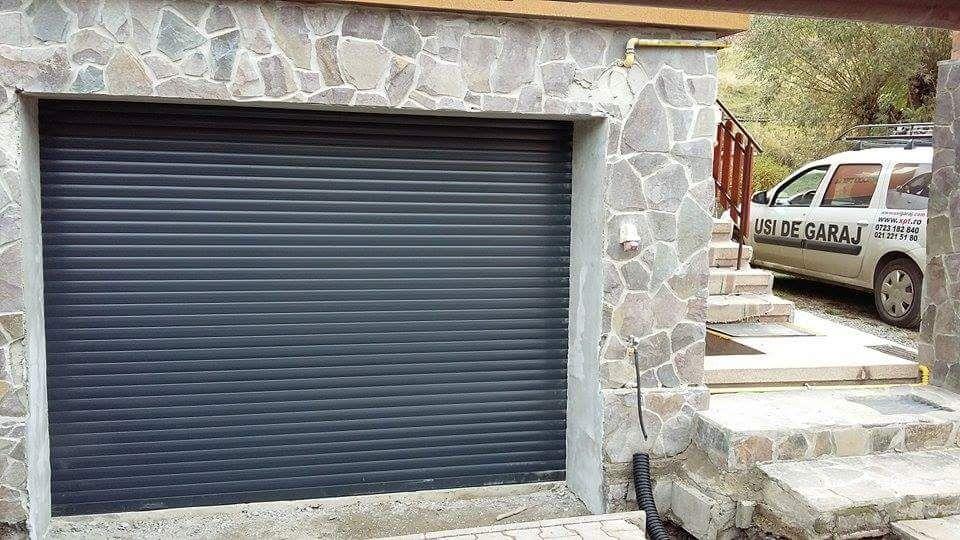 Usa tip rulou de garaj din ALUMINIU Calitate, lamela de 55 si 77mm