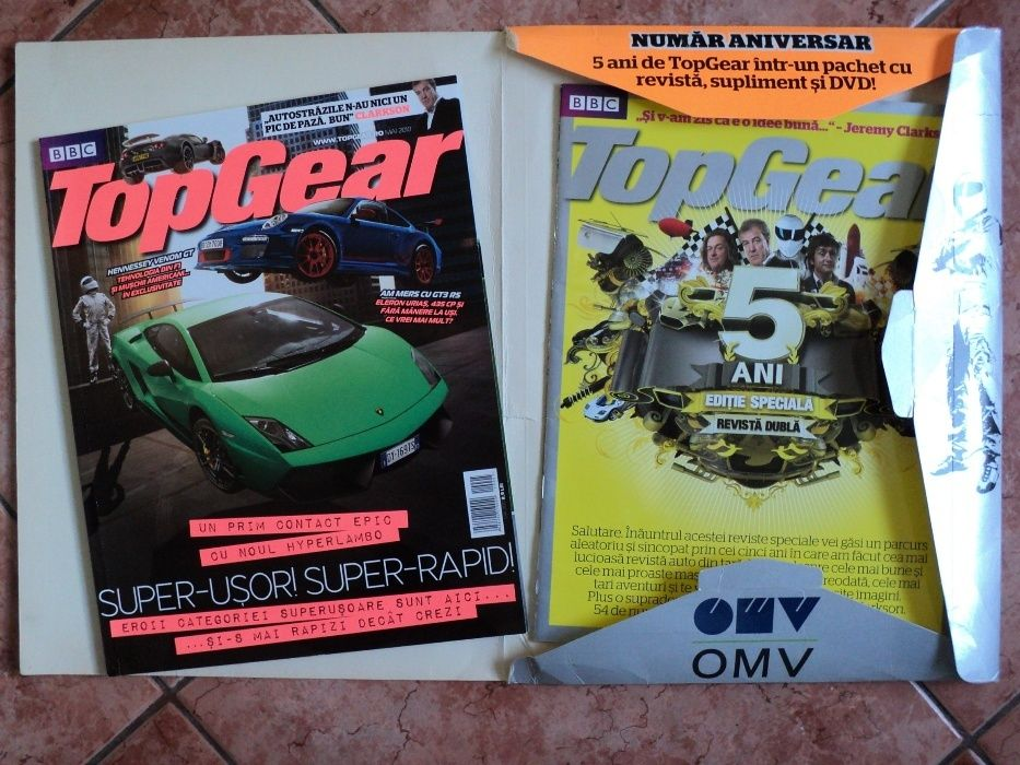 DE COLECTIE !!! Numar aniversar revista auto TOP GEAR 5 ani