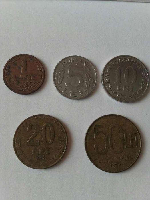 Set 5 monede 1,5,10,20,50 lei anii 1992,1994,1995