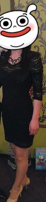 Rochie dantelă neagră