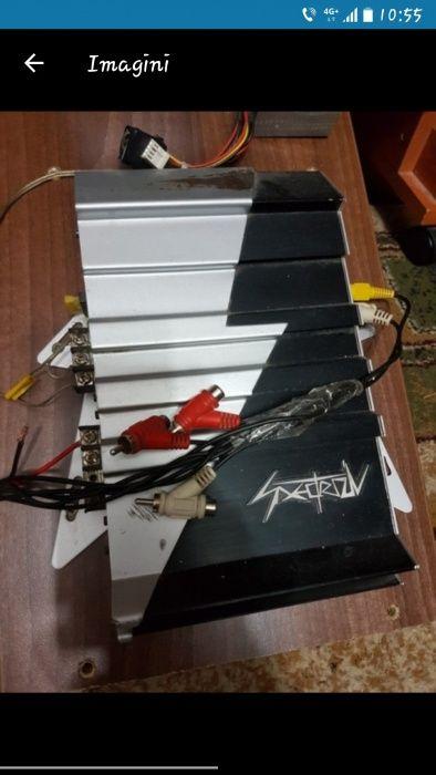 Vând amplificator+bass auto