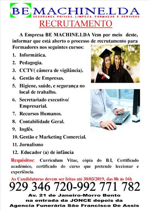 Recrutamento de formadores
