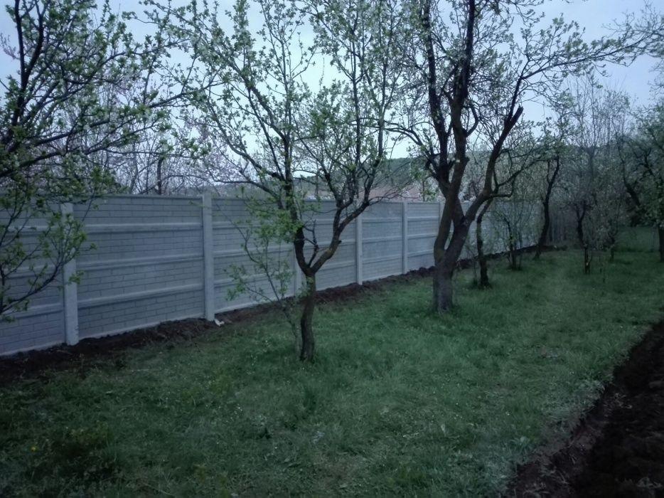 Gard opac din beton