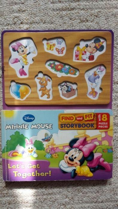 Carte cu Minnie Mouse cu piese de potrivit