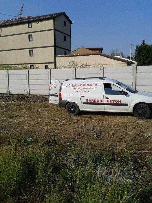 Gard beton garduri beton 150 lei ml montaj transport inclus