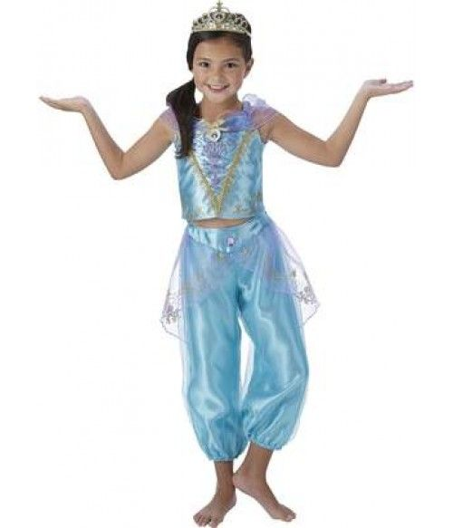 Costum halloween printesa Jasmine -Lampa lui Aladin, NOU 5-9 ani