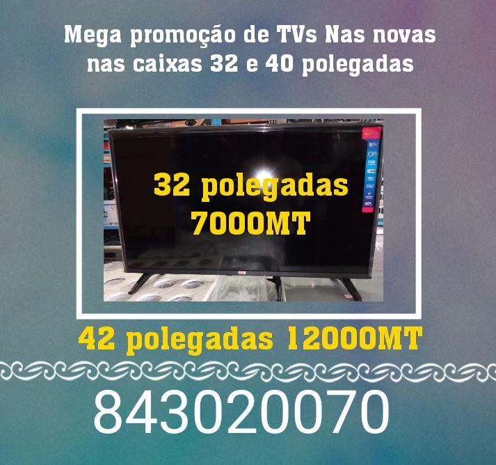 Mega promoção de TVs Nas novas nas caixas 32 e 42 polegadas