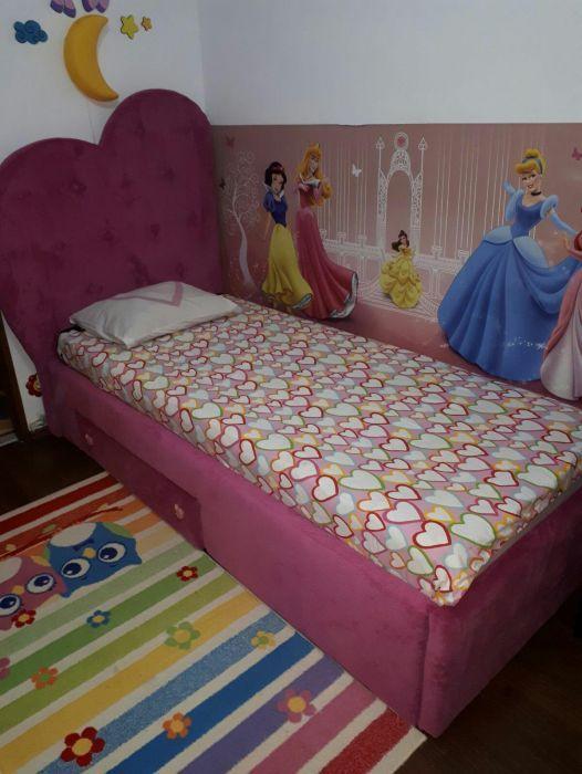 Pat tapițat pentru copii Bucuresti - imagine 3
