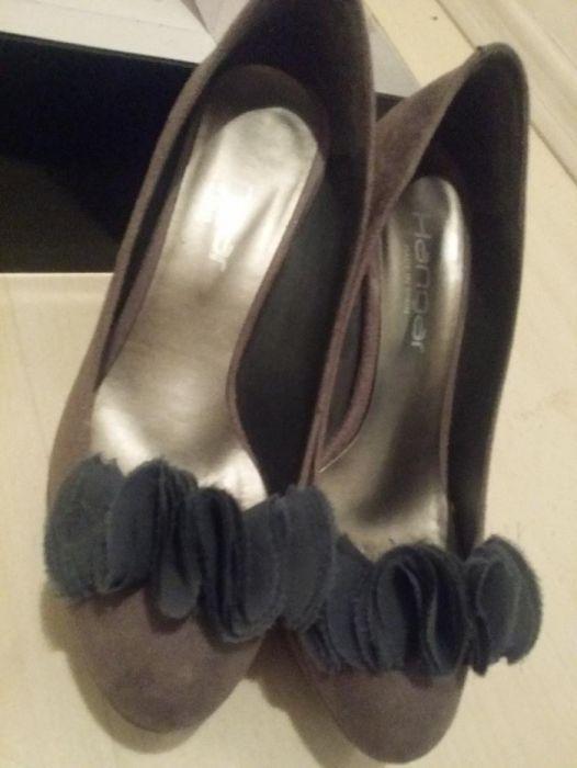 Pantofi piele cu toc si aplicatii, 37, HANGAR Spania